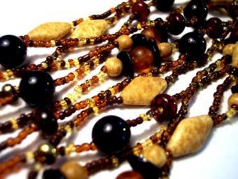 Black Glass Bead Necklaces