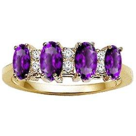 Amethyst and Diamond Band for a Classy Pop of Color
