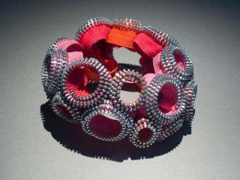 Kate Cusack zipper bracelet]