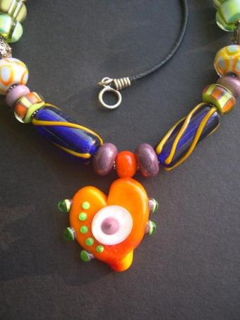 Blanche and Guy Design's beaded heart necklace