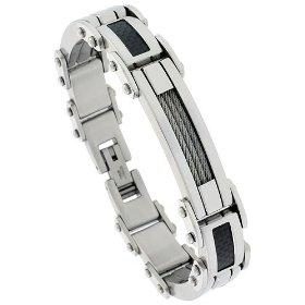 Steel cable bracelet