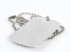 Dog tags make great name jewelry.