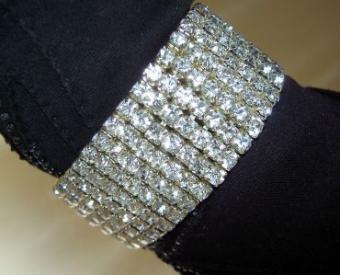 Rhinestone bracelet for Halloween