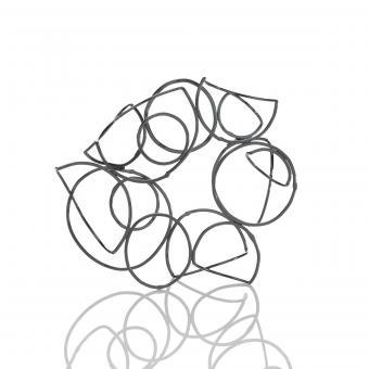 metal spiral brooch