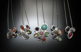 Akers gem stone necklaces
