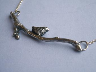 Bird and branch necklace