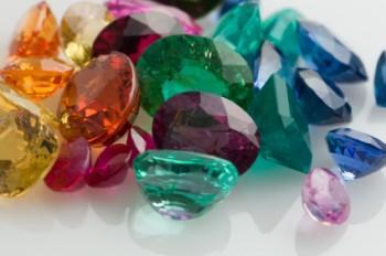Colorful loose gemstones