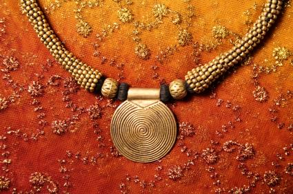 Coiled wire pendant