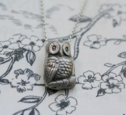 Wise Little Owl necklace