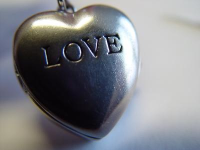 Generic locket inscribed love