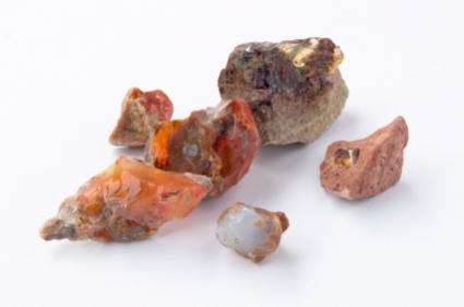 raw form fire opals
