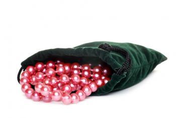 pearls in bag