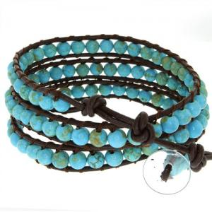 Blue Bead Leather Wrap at Amazon.com