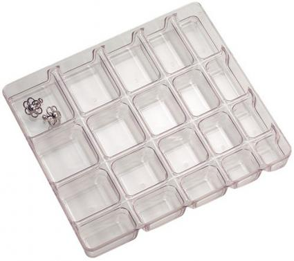 Small clear jewelry organizer from Organize-It