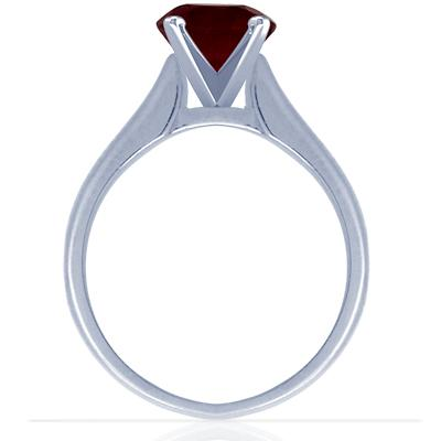 Ruby Tapered Cathedral Setting Solitaire Ring from GemsNY, Photo courtesy GemsNY