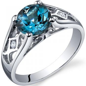 Cathedral design blue topaz ring from Amazon.com