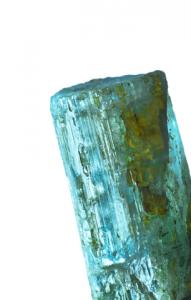 Rough aquamarine crystal