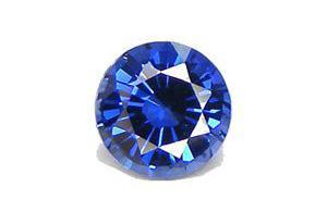 Lab-created loose sapphire