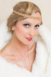 flapper with Art Deco jewelry