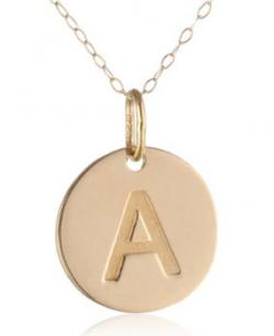 Gold initial pendants duragold 14k yellow gold initial pendant aloadofball Image collections