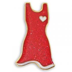 Red dress pin