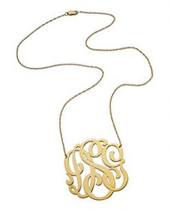 Jennifer Zeuner Three Initial Pendant Necklace