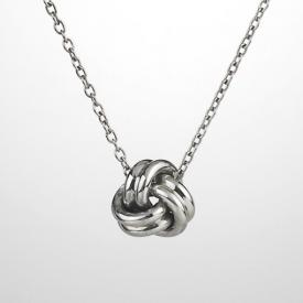 Love knot necklace small knot necklace mozeypictures Image collections