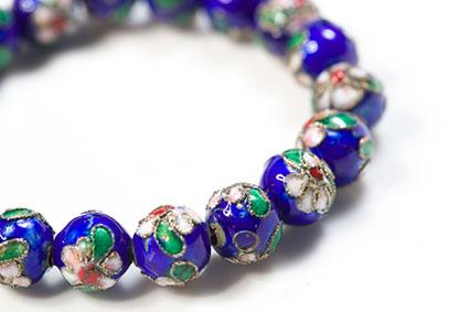 cloisonne beaded bracelet