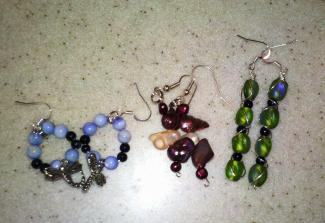 Finished beaded earrings