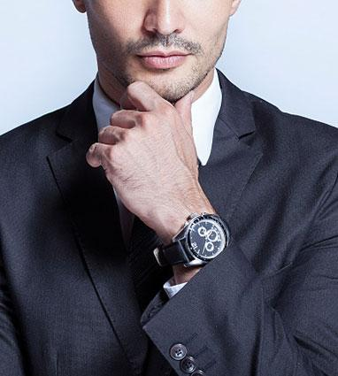 business man wearing watch