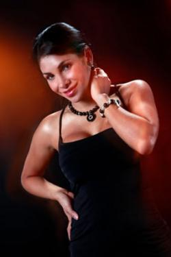 Black dress and jewelry