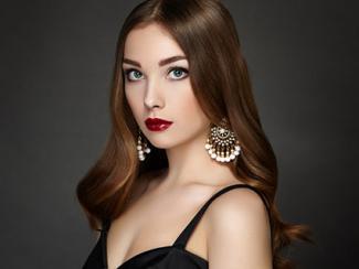 Black dress with bohemian dangling earrings