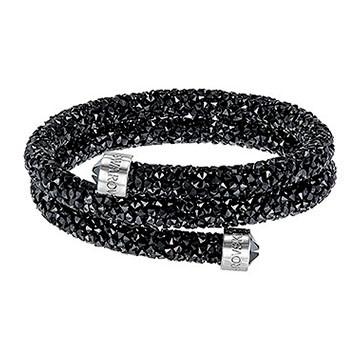 Swarovski Crystaldust Bangle Double Black