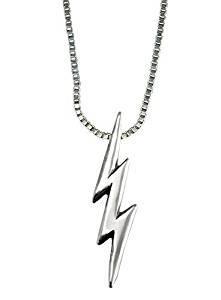 Lightning bolt pendant lovetoknow sterling silver lightning bolt pendant mozeypictures Choice Image