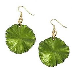 Aluminum Lily Pad Earrings