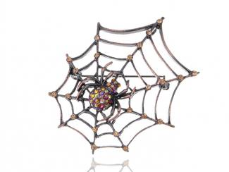 Halloween Spider Web Brooch at Amazon
