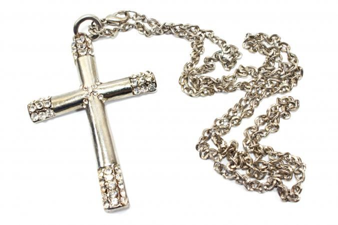 Religious thistle cross jewelry christian necklace aloadofball Images
