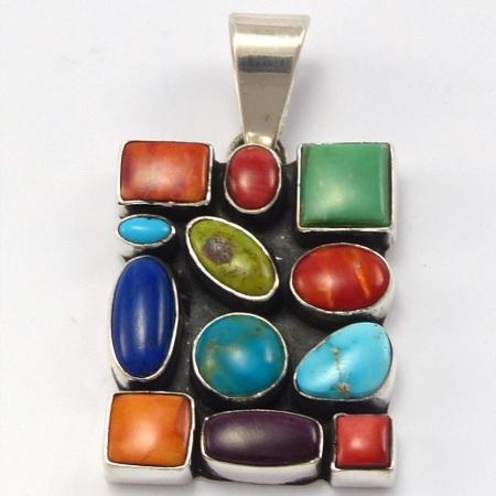 Multi-Stone Pendant by Dee Nez