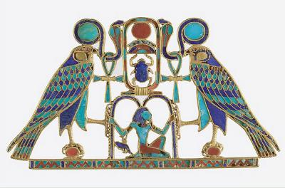 Close Up of Pectoral and Necklace of Sithathoryunet with the Name of Senwosret II, From Egypt