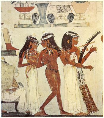 Tomb of Nakht - three musicians