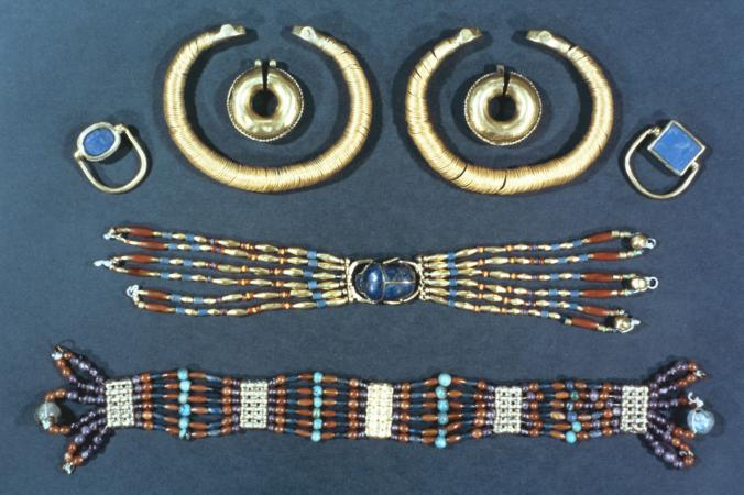 egyptian art ancient necklace earrings jewelry culture