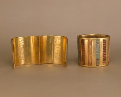 New Kingdom Hinged Cuff Bracelet