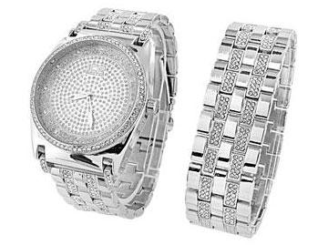 Master Of Bling Watch Simulated Diamonds Stainless Steel
