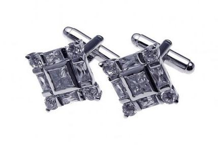Ashley Gold Sterling Silver Square Cufflinks