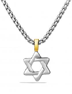 David Yurman Cable Classics Star of David with 18K Gold