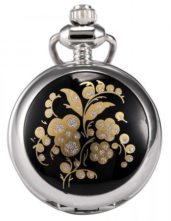 Steampunk Stainless Steel Pendant Necklace Pocket Watch