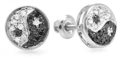 White Gold Diamond Stud Earring Set