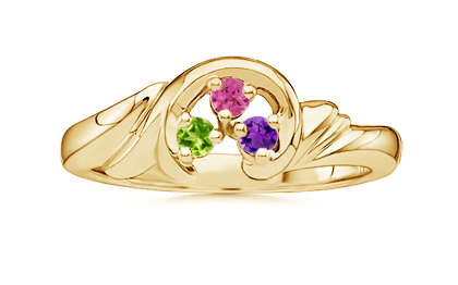 Customizable Swirl Ring