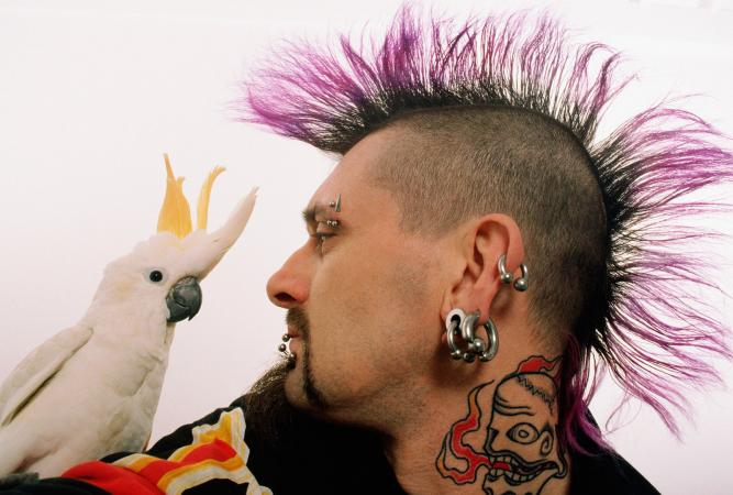 Punk guy with earrings