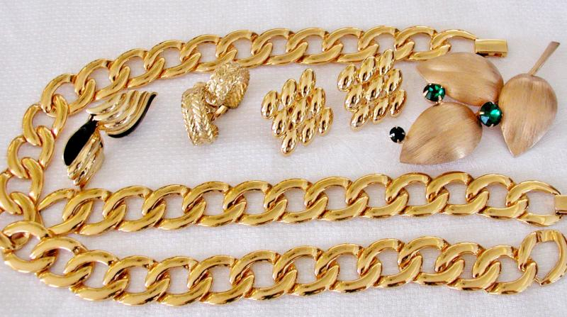Selection of Napier jewelry